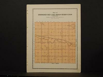Minnesota Clear Water County Map Red Lake Indian Reservation 1912  Y6#96