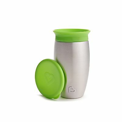 Munchkin Miracle Stainless Steel 360 Sippy Cup Green 10 Ounce - NEW FREE SHIP