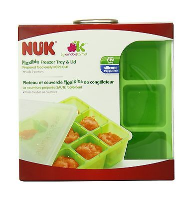 NUK Homemade Baby Food Flexible Freezer Tray and Lid Set Pack of 1