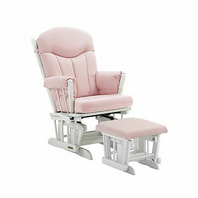 Shermag Glider and Ottoman Pink Gingham