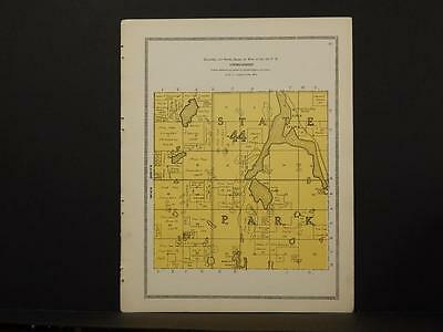 Minnesota Clear Water County Map State Park (Unorganized) 1912 Y6#98