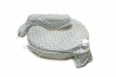 My Brest Friend Nursing Pillow Deluxe Slipcover Flower Key Grey
