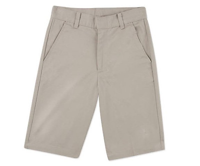 NEW with Tags, George Boys' Flat Front School Uniform Shorts Warm Beige Size 8