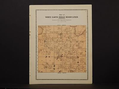 Minnesota Clear Water County Map White Earth Indian reservation 1912 Y7#03