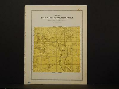 Minnesota Clear Water County Map White Earth Indian reservation 1912 Y7#04