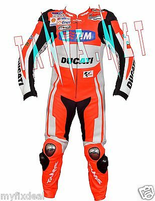 Andrea Dovizioso New Ducati Motorbike Motorcycle Motogp Racing Leather Suit