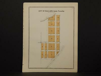 Minnesota Clear Water County Map City of Mallard 1912  Y7#08