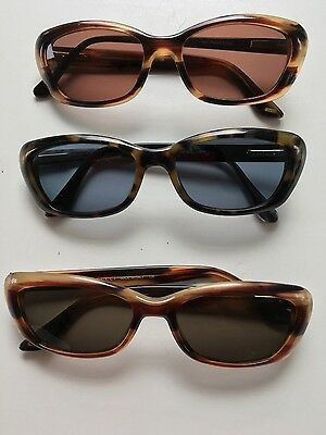 Three Pairs of Vintage Gucci Sunglasses 2415s Tortoise Shell Frames Lot GG
