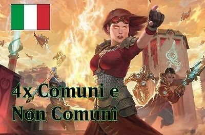 4X SET COMUNI+NON COMUNI Common+Uncommon AETHER REVOLT Rivolta dell'etere mtg IT