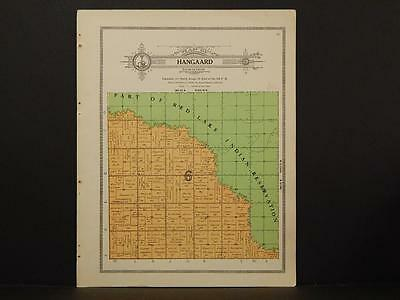 Minnesota Clear Water County Map Hangaard Township 1912  Y7#13