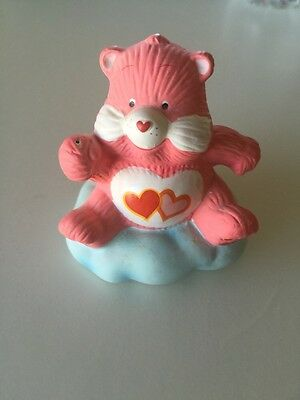 """Care Bear Pink Hearts Ceramic 3"""" Collectible Figurine"""