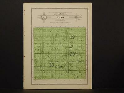 Minnesota Clear Water County Map Winsor Township 1912  Y7#14