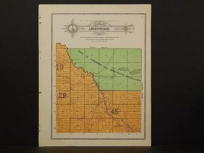Minnesota Clear Water County Map Greenwood Township 1912  Y7#15