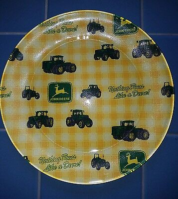 John Deere Plate Dish  NO Chip YELLOW