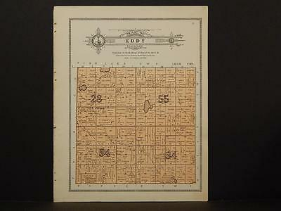 Minnesota Clear Water County Map Eddy Township 1912  Y7#19