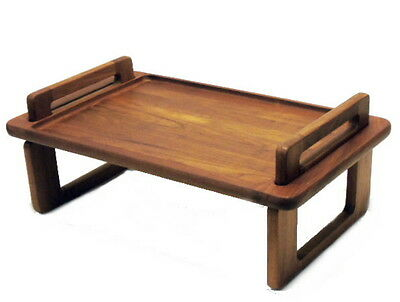 Vintage Dansk Teak Mid Century Danish Modern Lap Bed Breakfast Tray Collapsible
