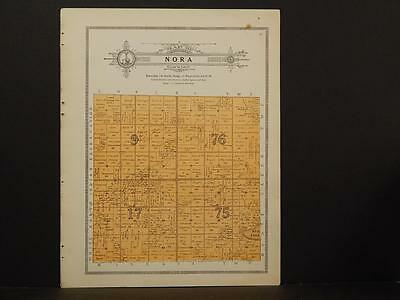 Minnesota Clear Water County Map Nora Township 1912  Y7#22