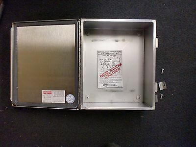 Hoffman stainless steel enclosure 10x12x6 nema electrical panel box type 4 4x