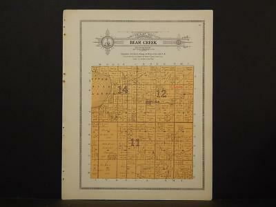 Minnesota Clear Water County Map Bear Creek Township 1912  Y7#25
