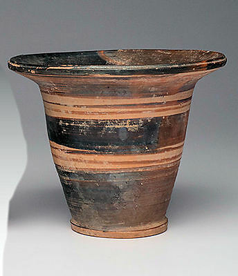 Ancient Etruscan Pottery Flared Beaker Cup Ca. 700 B.C.