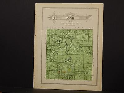 Minnesota Clear Water County Map Dudley Township 1912  Y7#28