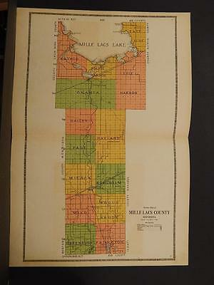 Minnesota Mille Lacs County Map 1914 Dbl Pg  Y7#32