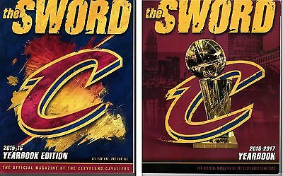 Cleveland Cavaliers Yearbook Two Program Set Lebron James Nba Finals Champions