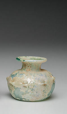 Ancient Roman Glass Jar Ca. 2nd-4th century A.D.