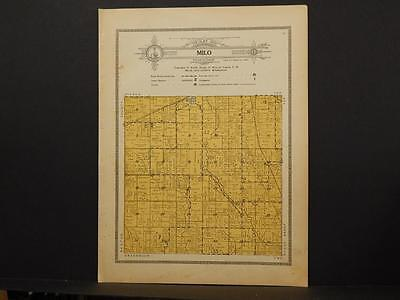 Minnesota Mille Lacs County Map Milo Township 1914 Dbl pg Y7#39
