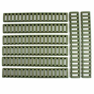 8 Pieces Heat Resistant Rifle Handguard Weaver Picatinny Ladder Rail Cover Green