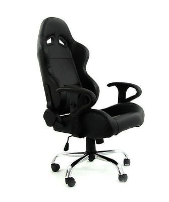 Neuf Sport Office Chair Seat Bucket Mn-Fo-059 Black Eco Leather