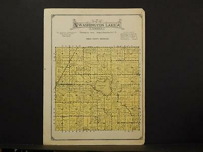 Minnesota Sibley County Map Washington Township 1926 Y7#59