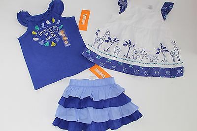 Gymboree Safari Smiles Baby Girl's Size 12-18 Months NWT Tops Skirt Lot Elephant