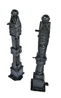 "Two Matching 19Th Cent Victorian ""chicago Style"" Cast Iron Exterior Newel Posts"