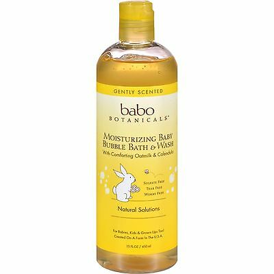 Babo Botanicals, Moisturizing Bubble Bath & Wash, Oatmilk Calendula, 15 fl oz