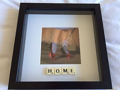 Wizard Of Oz Favourite Movie Frame Picture - Home - Ruby Slippers - Brand New