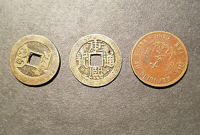 Lot of 3 Ancient Chinese Coins