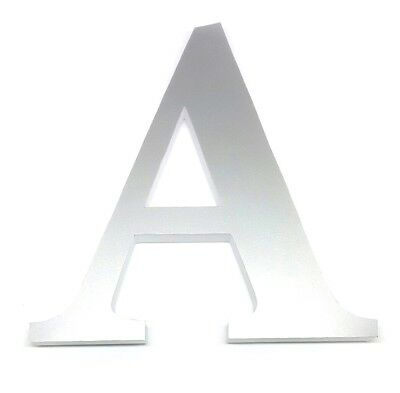 Silver Letters for Nursery Decor Alphabet Ampersand 6 In