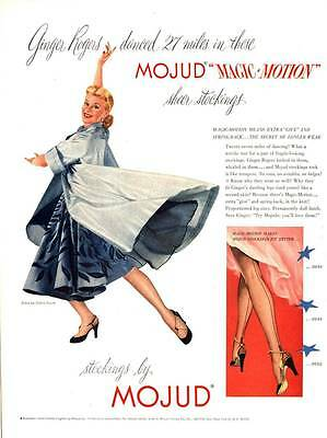 Vintage Print Ad 1951 Mojud Stockings Ginger Rogers Oldric Royce