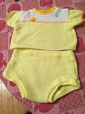 Little Lamb Baby Two-Piece Set : Fits Up To 3 Months
