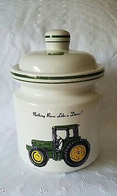 "2002 Gibson John Deere ""Tractor"" Ceramic Canister w/ Lid MEDIUM Licensed Product"
