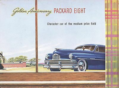 1949 Packard Eight.. Goldn Anniversary... Large Fold Out Advertising Booklet