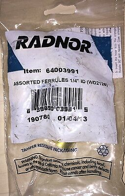 Radnor® Assorted Brass Ferrules Contains 2 Each of 7325 73266 And 7327