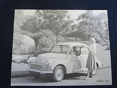 MORRIS 1000 1959-60 B&W Photo Specifications British Motor Corp. Excellent