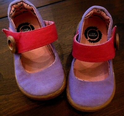 Girls Shoes 5 Livie Luca Pink Purple Cartas Canvas Mary Janes Toddler