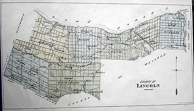Lincoln County Ontario Canada 1881 rare orig map Ont Agricultural Commission