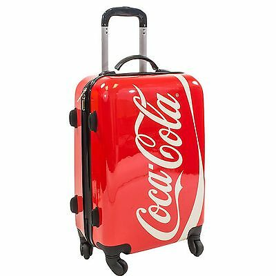 """New 21"""" Coca-Cola Carry on Luggage Hard Shell Suitcase Spinner Wheels"""