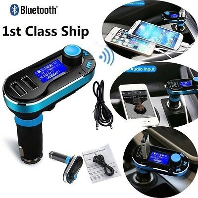 Bluetooth FM Transmitter Wireless Hands-free LCD Car Kit MP3 Music Player SD USB