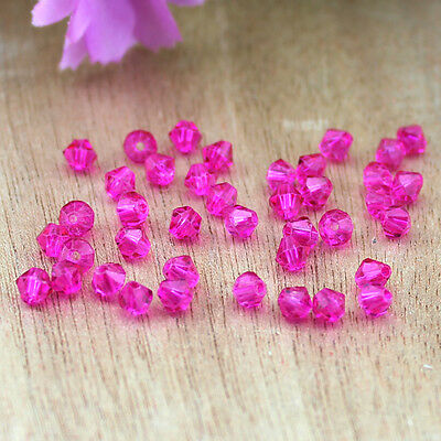 HOT! DIY jewelry 100PCS Austria Crystal 5301 3mm bicone Beads Rose Red