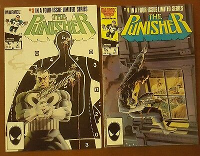 Lot Set of (2) Marvel Comics The Punisher Limited Series #3 and #4   Zeck
